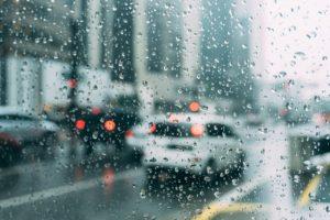 water spots on car window